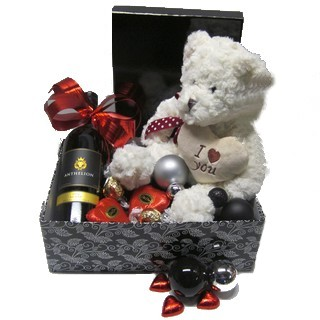 Romantic Basket - Send a Basket - p-844-bear-wine-choc-bauble-box-85