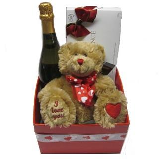 Romantic Basket - Send a Basket - p-856-champ-choc-bear-75