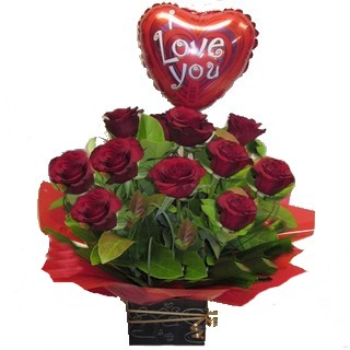 Romantic Basket - Send a Basket - p-900-Rose-box