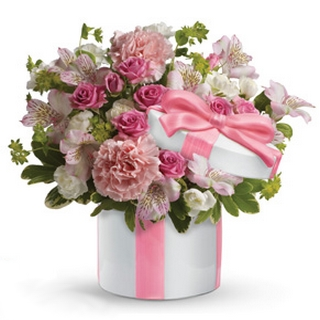 Gift Package - Send a Basket - p-1224-petals-hat-box-HW0_533755