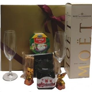 Best Gourmet Baskets - Send a Basket - 1220-moet-rosella-fls-glasses-cheese-crackers-truffles-146-320x320