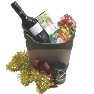 Gift Hampers - Send a Basket - p-1076-christmas-standard-suede-basket-75-2
