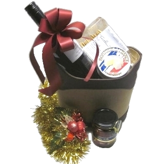 Gift Hamper - Send a Basket - p-1100-christmas-premium-suede-basket-$100-2