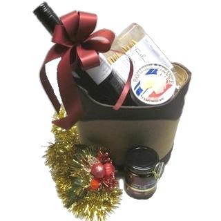 Gift Hamper - Send a Basket - p-1100-christmas-premium-suede-basket-$100-2