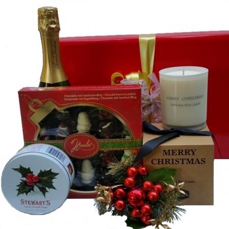 Christmas Gift Hampers - Send a Basket - Christmas Candle Greetings
