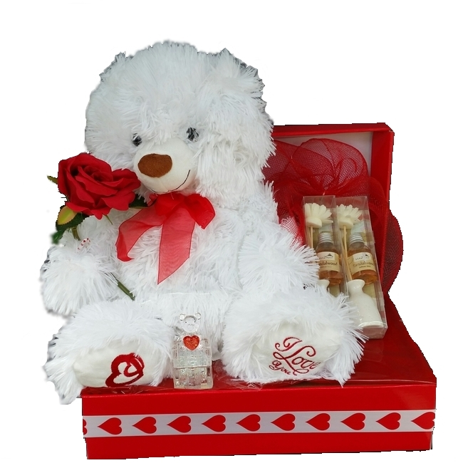 Baby Gift Baskets - Send a Basket - White Heart Bear Gift Box 66  sc 1 st  Send a Basket & Baby Gift Baskets - Send a Basket