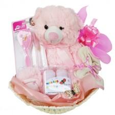Baby Baskets - Send a Basket - Pink Basket 1