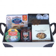Christmas Gift Baskets - Send a Basket - small upolstered hamper 68