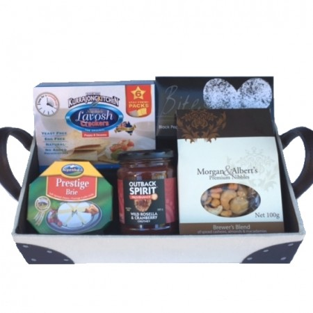 Christmas Gift Baskets - Send a Basket - small upolstered hamper 68