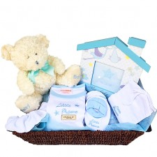 baby gift baskets send a basket Little Prince Basket 95