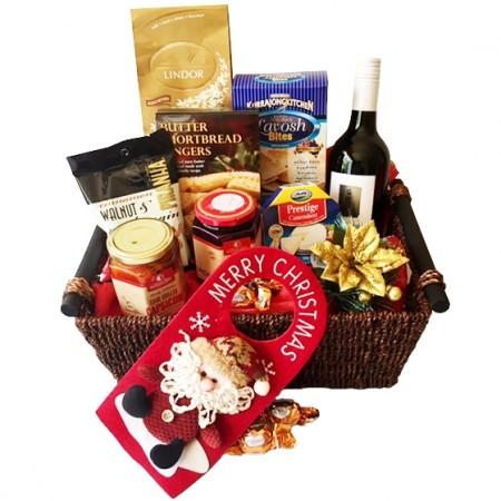 Gift Hamper - Send a Basket - christmas food gifts send a basket Ho Ho Ho Merry Christmas 145