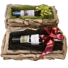 gift basket delivery send a basket rustic wine red or white 55