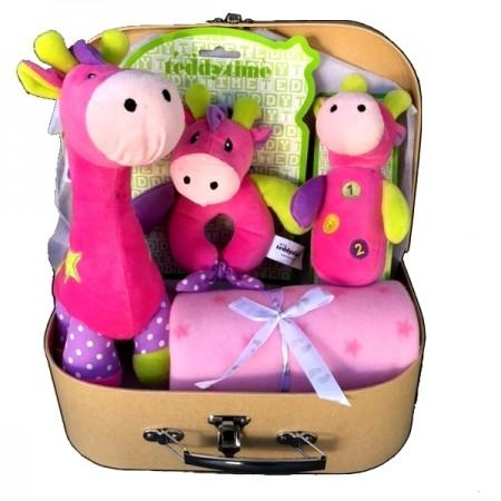 baby basket - send a basket gemma giraffebright girl suit case