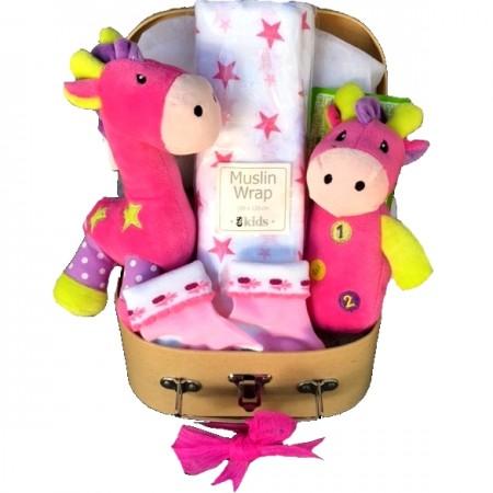 baby gift - send a basket - Jilly Giraffe