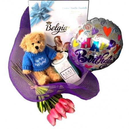 birthday basket - send a basket -beary birthday wishes