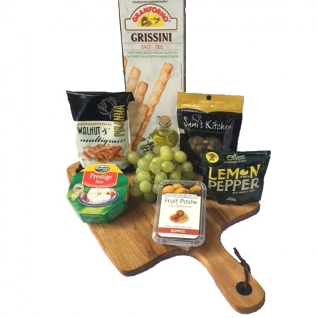 gourmet hamper - send a basket cheese & nibbles board