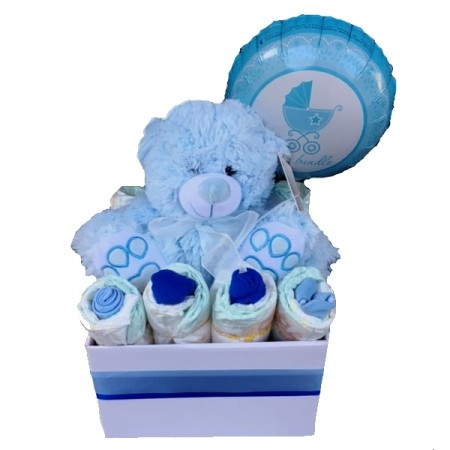 baby basket send a basket Bobby bear and nappies
