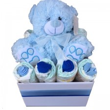 baby gift send a basket billy bear nappy box