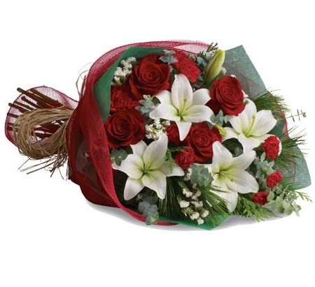 Christmas-flowers-send-a-basket-Christmas Elegance Petals X13