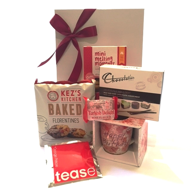 Gift Hamper Send A Basket Happy Birthday Teacup