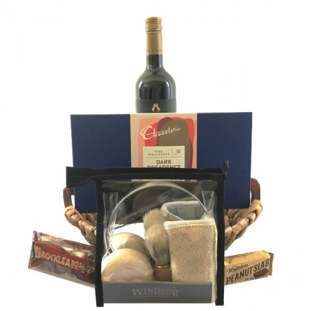 gift basket-send-a-basket-grooming and wine