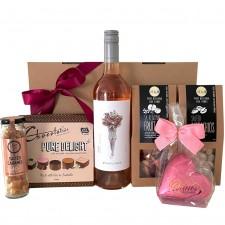 wine hamper send a basket Rose Delight